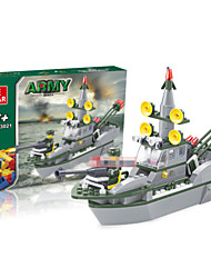 Defend Warship Models Building Toy For Children Plastic Scale Models Educational Toys For Boys