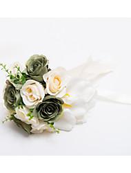 Hochzeitsblumen Wasserfall Rosen Sträuße Hochzeit / Partei / Abend Satin ca.30cm