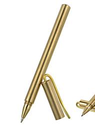 фура открытый тактический матовое поверхность латуни гелевая ручка с зажимом - золотой