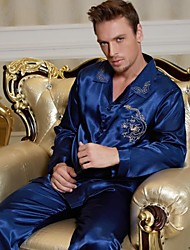 Men's Satin Pajamas/ SIlk Pajamas