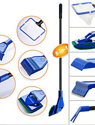 Aquarium 5in1 Cleaning Tool Set Fish Tank Maintenance Algae Cleaner Clean Brush Extension-Type
