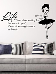 Life Isn'T About Waiting For The Storm To Pass It'S About Learning To Dance In The Rain Wall Sticker Decal Vinyl
