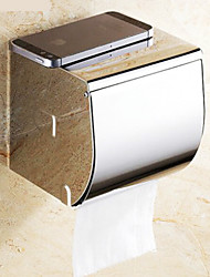 Flat Contemporary Stainless Steel Chrome Wall Mounted Toilet Paper Holder