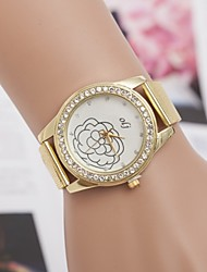 L.WEST Ladies' Diamonds Rose Mesh Belt Quartz Watch