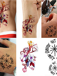 2016 New Water Transfer Waterproof Temporary Tattoo Sticker Body Art Sexy Product(10PCS)