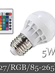 5W E26/E27 LED Kugelbirnen Eingebauter Retrofit 6LED SMD 5050 500 lm RGB Ferngesteuert / Dekorativ AC 85-265 V 1 Stück