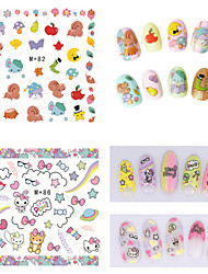 1pcs Fresh Nail Watermark Sticker82-86