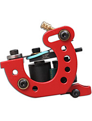 1pc New Design Handmade Tattoo Machine Liner Shader Red Color 10 Wrap Coil Tattoo Supplies