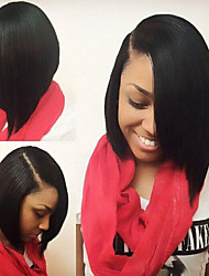 10inch Bob Straight Natural Color Brazilian Virgin Hair Full lace Wig,Free Shipping