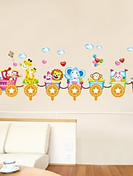 Diy Removable Wall Stickers Cartoon Cute Animals Train Balloon Kids Bedroom Home Decor Mural Decal
