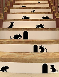 Mouse Hole Living Room Backdrop Stickers