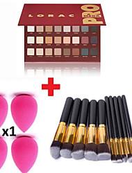 32 Poudre + Fards à Paupières + Rouges à Lèvres + Miroir Sec Yeux Gloss coloré / Gloss en pot / Longue Durée / Respirable china Others