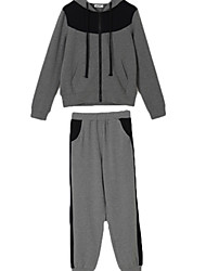 Women's 2 Pcs Fashion Leisure Hoodie Pants Sports Suits