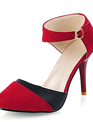 Women's Shoes Stiletto Heel/Pointed Toe Split Joint Shoes Party & Evening/Dress Black/Blue/Red