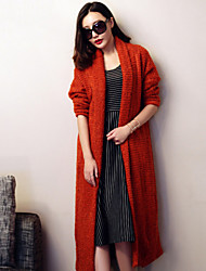 verragee  Paragraph sweater knit cardigan coat grows in loose long-sleeved dress