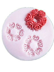 Three Holes Round Flower Silicone Mold Fondant Molds Sugar Craft Tools Resin flowers Mould Molds For Cakes