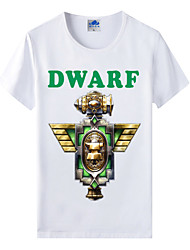 Flaming Light® World of Warcraft Wow Series Heroes Dwarf Cosplay T-Shirt Cotton Lycra
