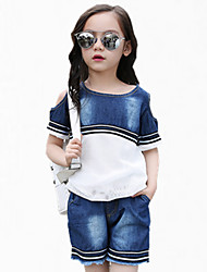 Girl's Blue Shorts / Jeans,Lace Cotton Summer