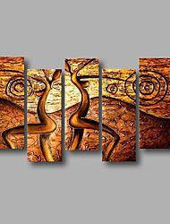 """Stretched (ready to hang) Hand-Painted Oil Painting 60""""x40"""" Canvas Wall Art Modern Abstract Black Brown"""