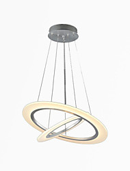 LED Acrylic Pendant Lights Ceiling Hanging Chandeliers Lamps Fixtures with 2 ring 3050 CE FCC ROHS