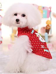 New Pet Dog Clothes Puppy Vest Summer Cartoon T-shirt Pet Shirt Cute Cat Pattern Cotton Cat Clothes
