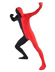 Costumes zentai Ninja Costume Zentai Costumes de Cosplay Rouge / Noir Mosaïque Collant/Combinaison / Costume Zentai Lycra / Elasthanne