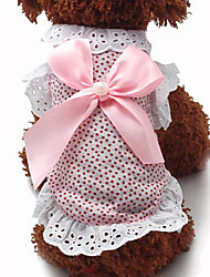 Sweet Lace Bowknot Pet Dress