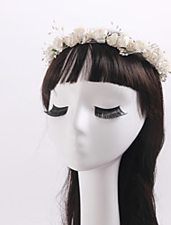 Women's / Flower Girl's Imitation Pearl / Fabric Headpiece-Wedding / Special Occasion / Casual / Outdoor Wreaths 1 Piece