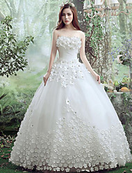 A-line Wedding Dress Floor-length Sweetheart Lace / Tulle with Lace