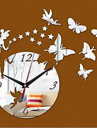 Redondo Moderno/Contemporáneo / Casual / Oficina/ Negocios Reloj de pared,Animales / Dibujos Animados Plástico 40*60cm