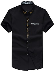 Men's Fashion Casual Short Sleeved  Print Shirt  Plus Sizes