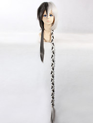 Cosplay Wigs Vocaloid Cosplay Black / Gray Long Anime Cosplay Wigs 110 CM Heat Resistant Fiber Male / Female