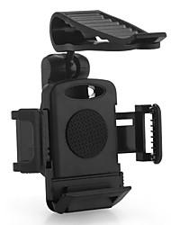 plástico carro pala de sol braçadeira montar titular para o telefone móvel maçã gps preto