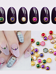 100pcs metal edage nail pearls-Autre décorations-Doigt / Orteil- enAdorable-4mm