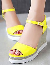 Women's Shoes Wedges Heels/Platform/Sling back/Open Toe Sandals Dress Black/Yellow/Pink/White