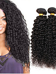 1Bundles 8-26inch Brazilian Virgin Hair Deep Curly Color 1B# Unprocessed Raw Virgin Human Hair Weaves