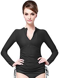 Ultraviolet Resinstant Tops Dive Skins for Women Chinlon Long Sleeve