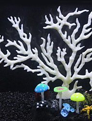 Aquarium Decoration Ornament / Coral Artificial Plastic