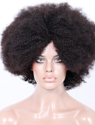Afordable 8A Machine Made or Glueless or Full Lace front Wigs in Natural Afro Kinky Curly Indian Remy Human Hair Wigs