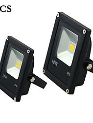 10W Focos LED 1 LED de Alta Potencia 100 lm Blanco Cálido / Blanco Fresco Impermeable AC 85-265 V 2 piezas