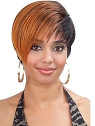 miscela di colore di moda parrucca sintetica breve capelli lisci
