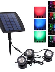 IP68 Waterproof Solar Power 18 LED Spotlight  Pool Garden Path Flash Light Lamp RGB