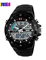 SKMEI® Men's  Digital-Analog Silicone Band 50m Water-resisstant Multi-Functional Dual Time Zones Sports Watch Cool Watch Unique Watch Fashion Watch