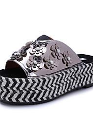Zapatos de mujer-Plataforma-Punta Abierta / Plataforma / Creepers / Zapatillas-Sandalias-Vestido / Casual-Sintético-Rosa / Plata