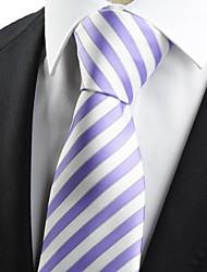 Gravata(Roxo / Branco,Tricô)Listrado