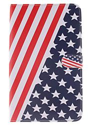die amerikanische Flagge Entwurf PU-Leder Ganzkörper-Fall mit Standplatz und Kartenschlitz für Samsung Galaxy Tab e 8.0 t377 t375