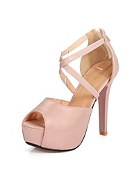 Women's Shoes Chunky Heel Platform/Open Toe Peep Toe Sandals Party & Evening/Dress Pink/Gold/Beige