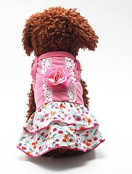 Sweety Flower Printing Pet Dress
