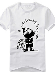 Inspired by Naruto Naruto Uzumaki Anime Cosplay Costumes Cosplay T-shirt Print White / Black Short Sleeve T-shirt
