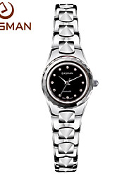 EASMAN® Watch Women Business Black Watch Tungsten Brand Quartz Wristwatches High Quality 12 Zircon Gems Women Watches Cool Watches Unique Watches